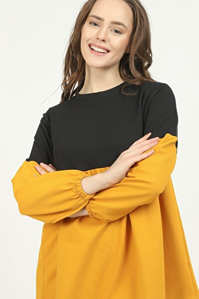 Kadın Sarı Üç Renkli Tunik