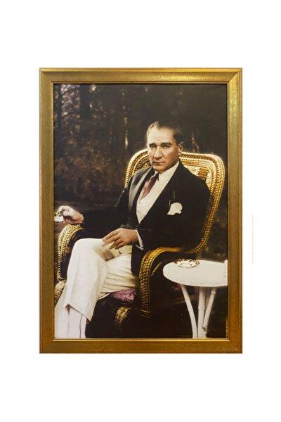 Yaldız Çerçeveli Atatürk Portresi 55x75cm
