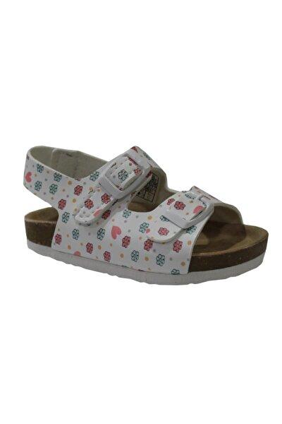 321.B20Y.363 Beyaz Kız Çocuk Sandalet 100579025
