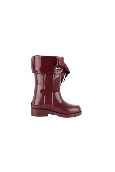 Kız Çocuk Bordo Yağmur Çizmesi  W10114