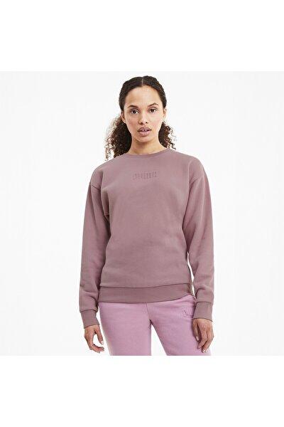 MODERN BASICS CREW FL Pembe Kadın Sweatshirt 101119453