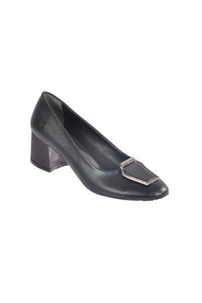 2122 Siyah Kadın Topuklu Ayakkabı