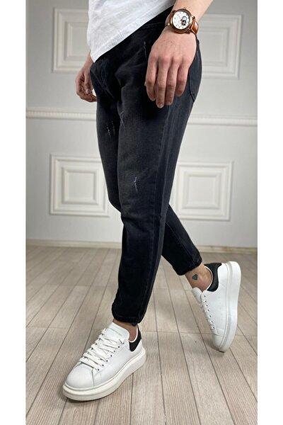 Erkek Yüksek Bel Boyfriend Kot Pantolon