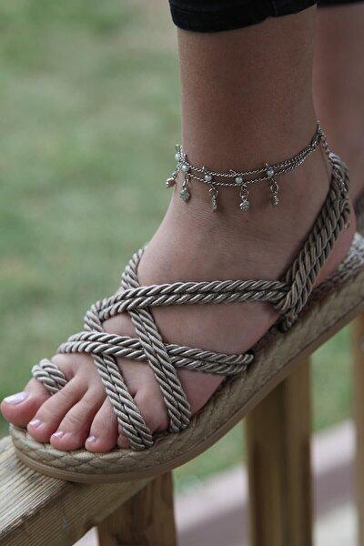 Kadın Vizon Conforma Hasır Sandalet