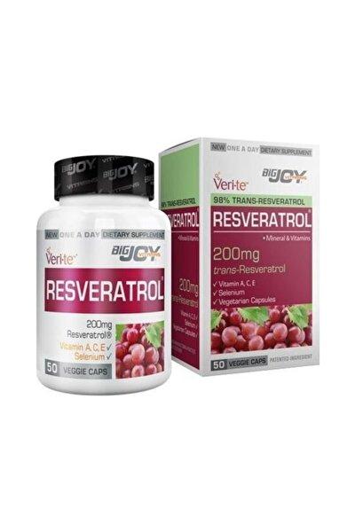 Bigjoy Vitamins Resveratrol 200mg 50 Vegi Kapsül Skt:10/21
