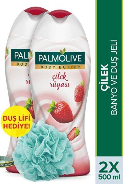 Body Butter Çilek Rüyası Banyo Ve Duş Jeli 2 X 500 ml + Duş Lifi Hediye