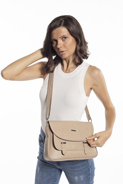 Vizon Kadın Kapaklı Postacı Çapraz Çanta