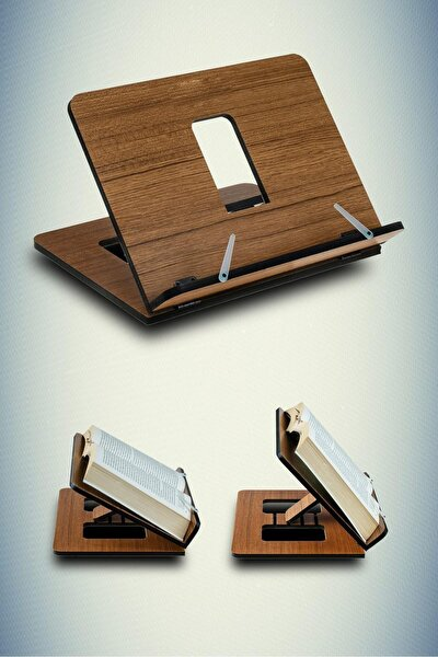 Ahşap Kitap Okuma Ve Tablet Standı Kahverengi