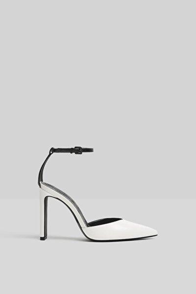 Kadın Beyaz Bilek Bantlı Topuklu Ayakkabı 11302760