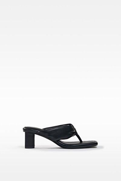 Kadın  Dolgulu Bantlı Topuklu Sandalet