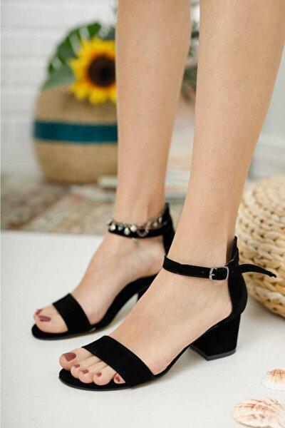 Kadın Siyah Zenne Ayakkabı Tek Bant