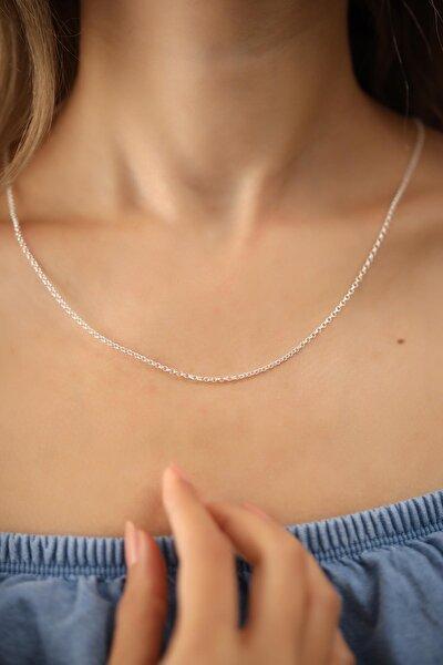 Kadın Halat Model Gümüş İtalyan Kolye