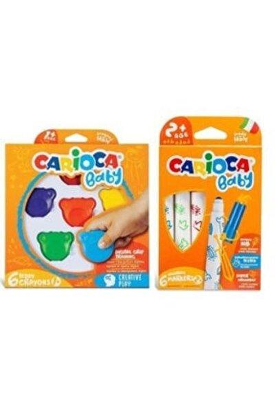 Süper Yıkanabilir Keçeli Boya Kalemi Ve Teddy Baby Crayons 6'lı +1 Yaş
