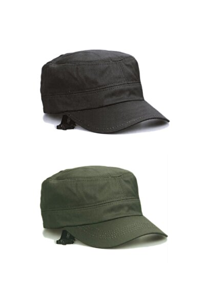 Castro Siyah Ve Haki Şapka Ikili Set