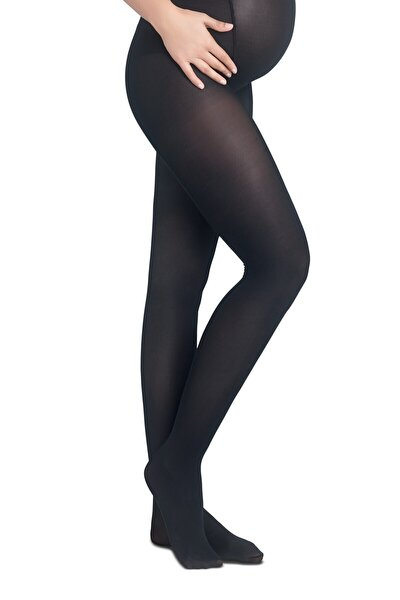 Siyah Hamile Külotlu Çorabı 40 Denye