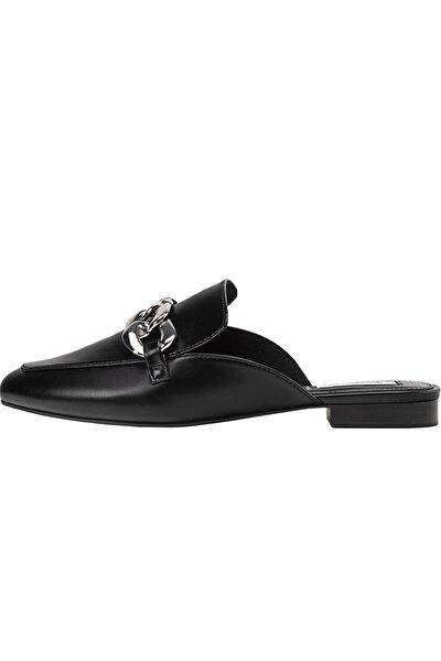 Kadın Siyah Detaylı Arkası Açık Ayakkabı 19112770