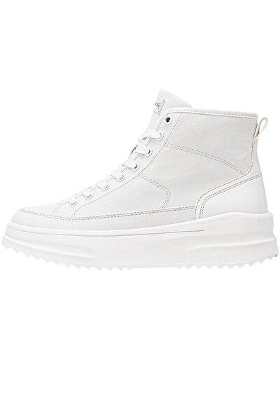 Kadın Beyaz Kumaş Bilekli Spor Ayakkabı 19005770