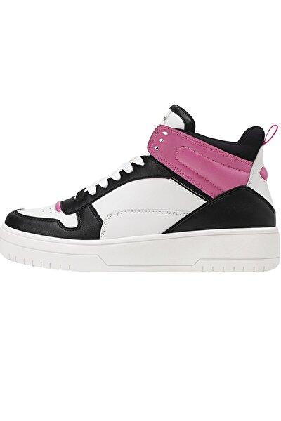 Kadın Kombine Dekoratif Parçalı Yüksek Bilekli Spor Ayakkabı 19006770