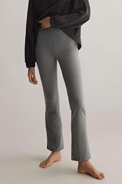 Kadın Comfort Flare Pantolon Gri Melanj 31796333