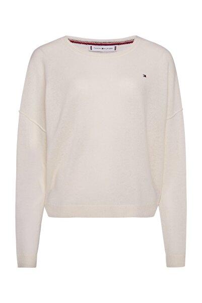 Kadın Beyaz Kazak Softwool Open C-Nk Sweater Ls WW0WW28890