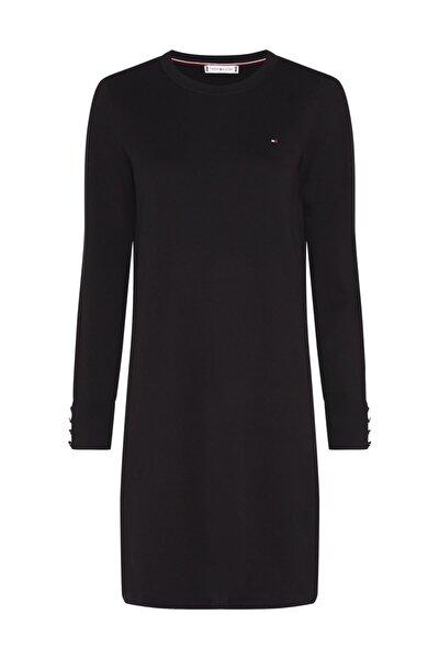 Kadın Siyah Elbise Soft Cotton C-Nk Dress Ls WW0WW29320