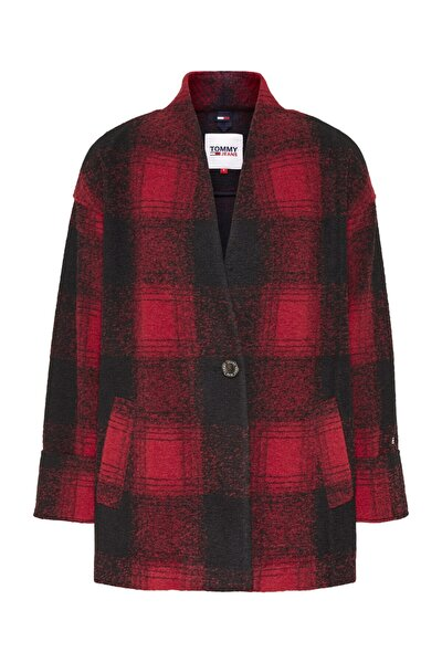 Kadın Kırmızı Ceket Tjw Check Blazer DW0DW08840