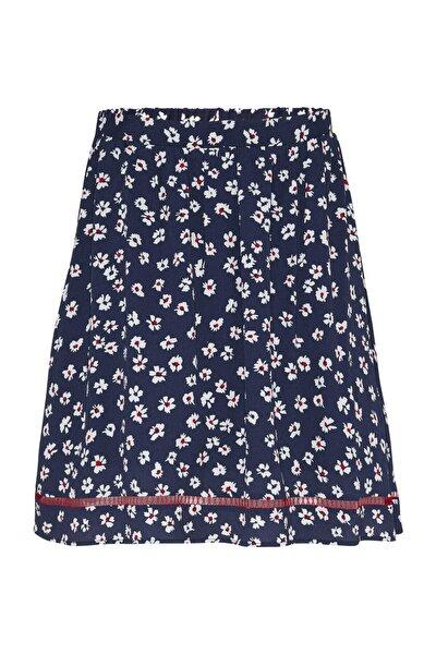 Kadın Mavi Etek Tjw Prınted Lace Trım Skırt DW0DW08568