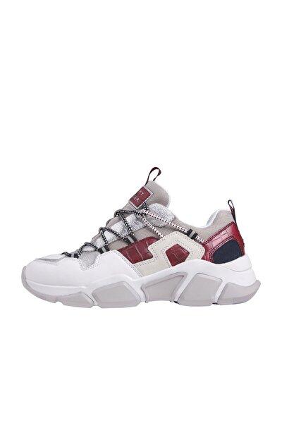 Kadın Gri Sneaker Croc Prınt Tommy Chunky Sneaker FW0FW05240