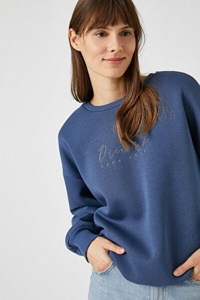 Lacivert Kadın Sweatshirt 1kak13297ek
