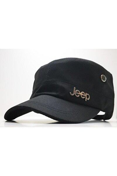 Siy@s@ Jeep Castro Tarzı Siyah Şapka