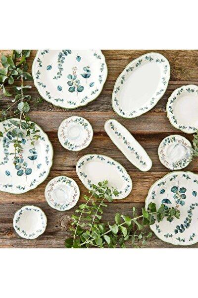 Ocaliptus 26 Parça 6 Kişilik Kahvaltı Takımı Yeşil