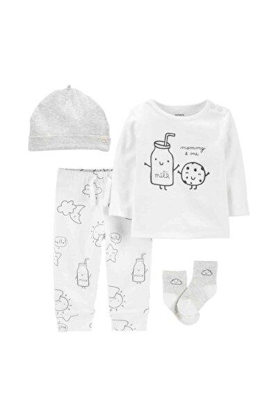 Unisex Bebek Beyaz Hastane Çıkış Setli