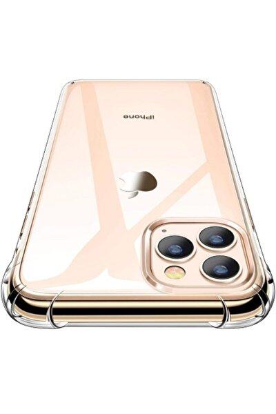 Iphone 11 Pro Max Uyumlu Darbeye Dayanıklı Şeffaf Tam Koruma Kılıf