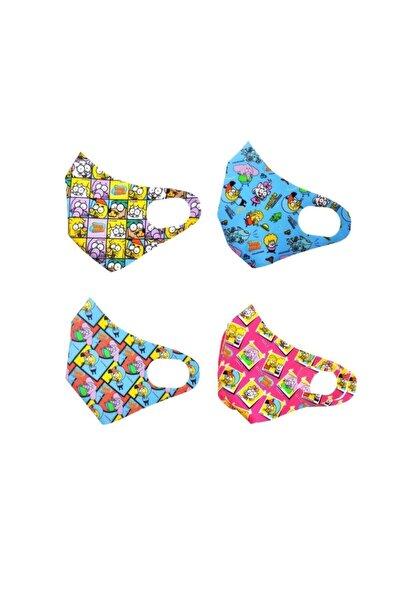 Çocuk Yıkanabilir 4 adet Maske