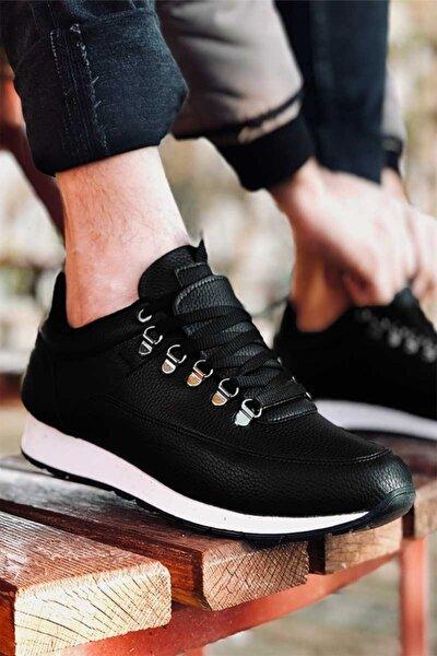 Erkek Siyah Tam Ortopedik Günlük Spor Ayakkabı