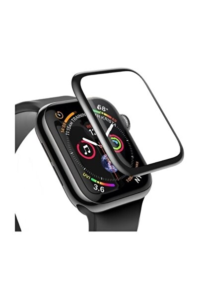 Apple Watch 3 4 5 6 Se 44mm 5d Kavisli Tempered Kırılmaz Cam Koruyucu