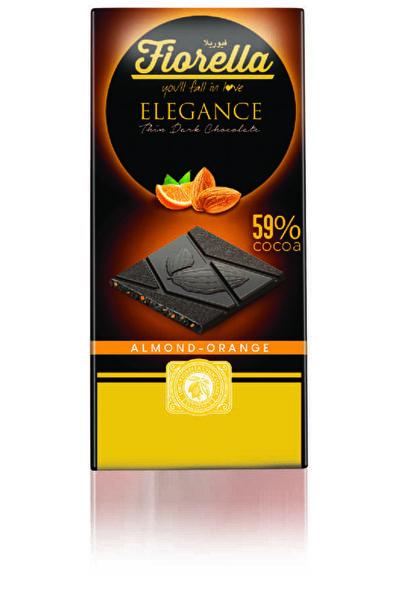 Elegance Bademli Portakallı Bitter Çikolata 70gr.10 (1 Kutu)