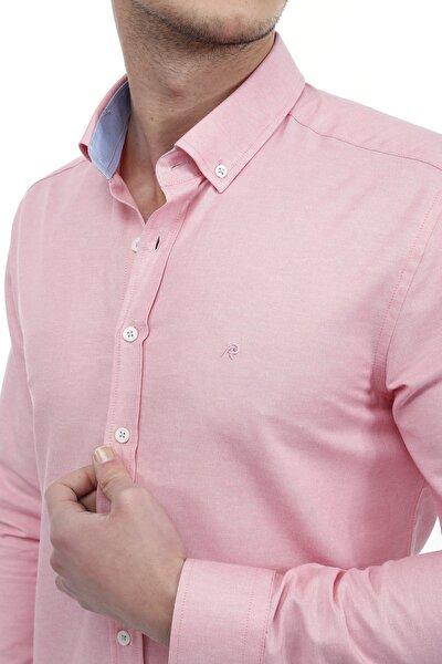 Slim Fit Düz Şamre Gömlek
