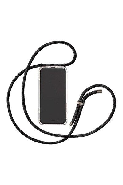 """Iphone 11 6.1""""Uyumlu Şeffaf Boyun Askılı Ipli Kılıf"""