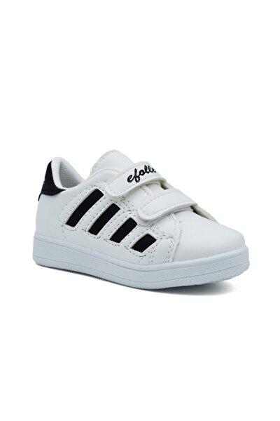 Unisex Çocuk Siyah Beyaz Sneaker