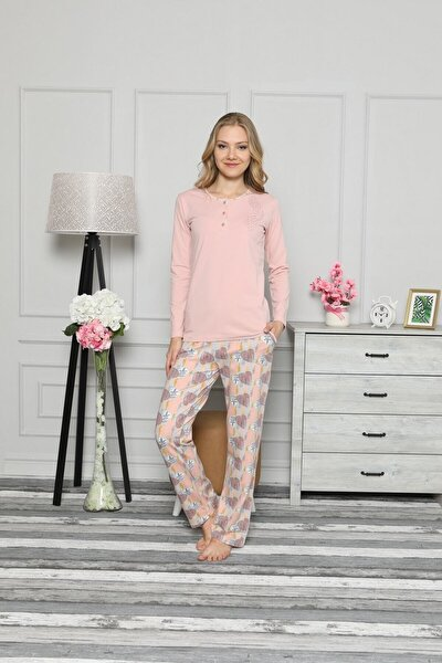 Kadın Kışlık Uzun Kol Pijama Takım