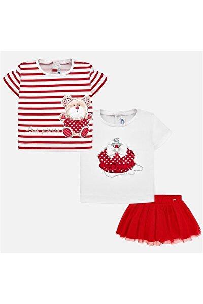 Kırmızı Kız Bebek Alt Üst Takım