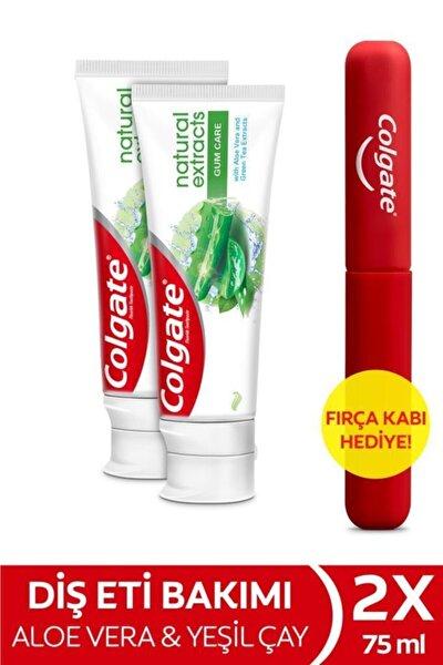 Natural Extracts Aloe Vera ve Yeşil Çay Özlü Diş Macunu 75 ml x 2 Adet + Fırça Kabı Hediye