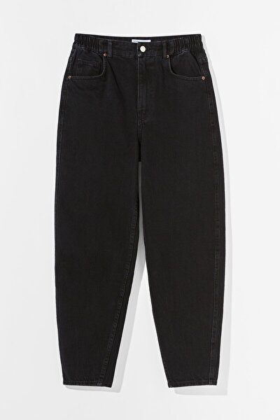 Kadın Siyah Balloon Fit Jean