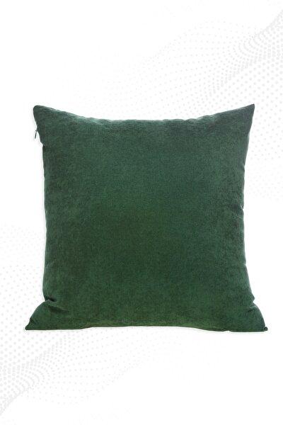 45x45 Cm Yeşil Kırlent Kılıfı Dekoratif Düz Sade Panoroma-588