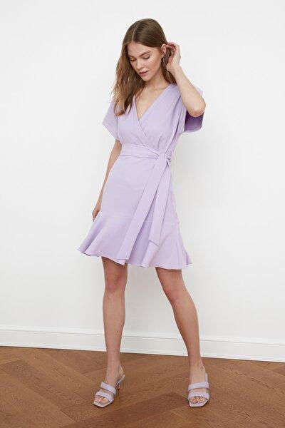 Lila Kuşaklı Elbise TWOSS20EL0944