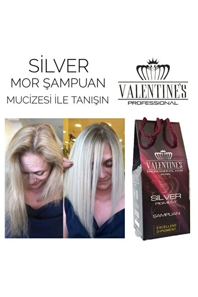 Sılver Pıgment Mor Şampuan Valentınes Professional Premıum