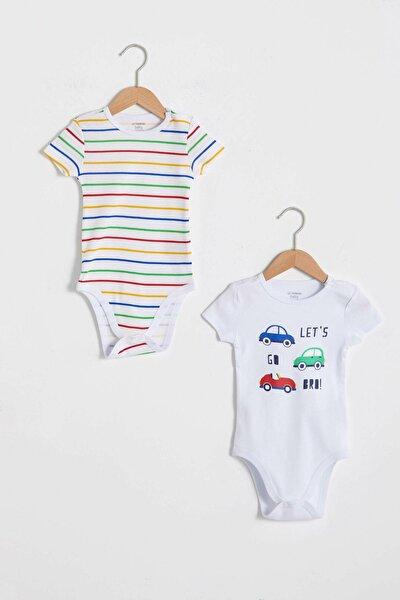 Erkek Bebek Optik Beyaz E5X Bebek Body & Zıbın