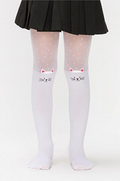Çocuk Pretty Beyaz Beyaz Külotlu Çorap