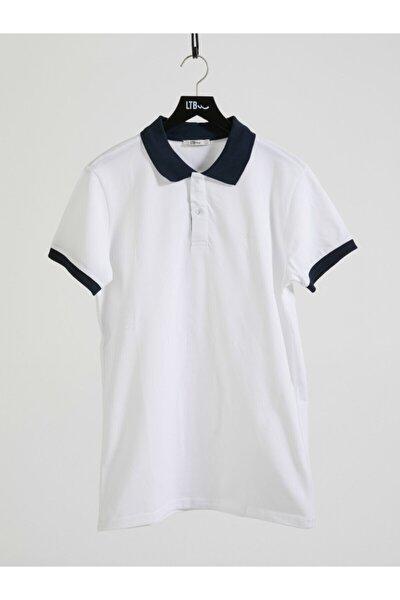 Erkek  Beyaz Polo Yaka T-Shirt 012208452060890000